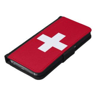 De Vlag van Zwitserland Samsung Galaxy S6 Portemonnee Hoesje
