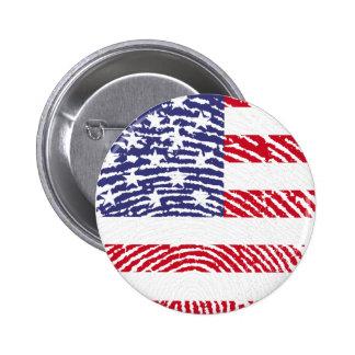 de vlagvingerafdruk van Verenigde Staten Ronde Button 5,7 Cm