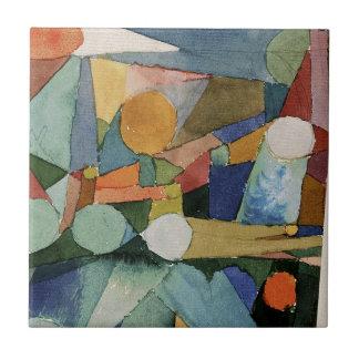 De Vormen van de kleur door Paul Klee Tegeltje