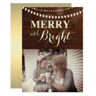 De vrolijke en Heldere Foto van Kerstmis van de 12,7x17,8 Uitnodiging Kaart