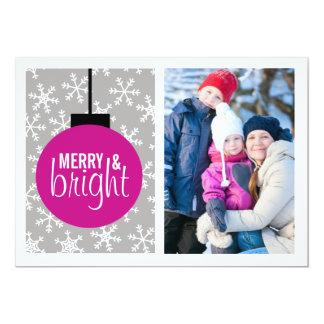 De vrolijke & Heldere Foto van Kerstmis van de 12,7x17,8 Uitnodiging Kaart