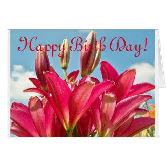 De vrolijke Kaart van de Dag van de Geboorte van