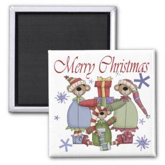 De vrolijke Teddyberen van Kerstmis Koelkast Magneten