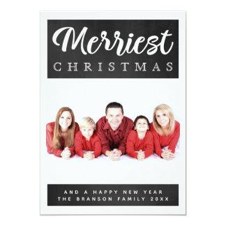 De vrolijkste Kaart van de Foto van Kerstmis