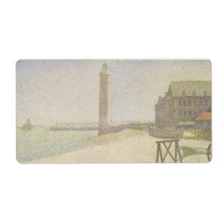 De vuurtoren in Honfleur door Georges Seurat Etiket