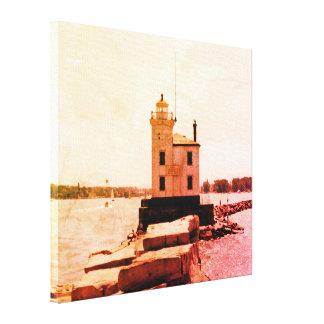 De Vuurtoren van Erie van het meer Canvas Afdrukken