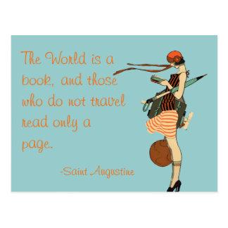 De wereld is een boek wens kaarten
