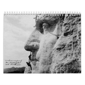 De werklieden op George Washington zien Onderstel Kalender