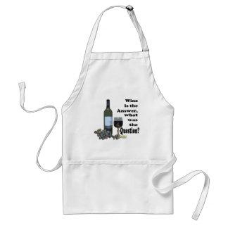 De wijn is het antwoord, wat was de Vraag?  Giften Standaard Schort