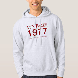 de wijnoogst van 1977 het man, de mythe, de hoodie