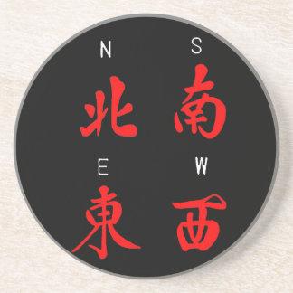 De Winden van Mahjong, het Kostuum van de Eer, het Zandsteen Onderzetter