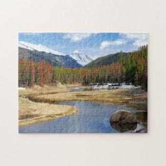 De windende Rivier van Colorado met Bergen en Pijn Puzzel