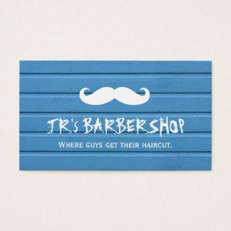De Winkel van de kapper - Modieus Blauw Hout en Visitekaartjes