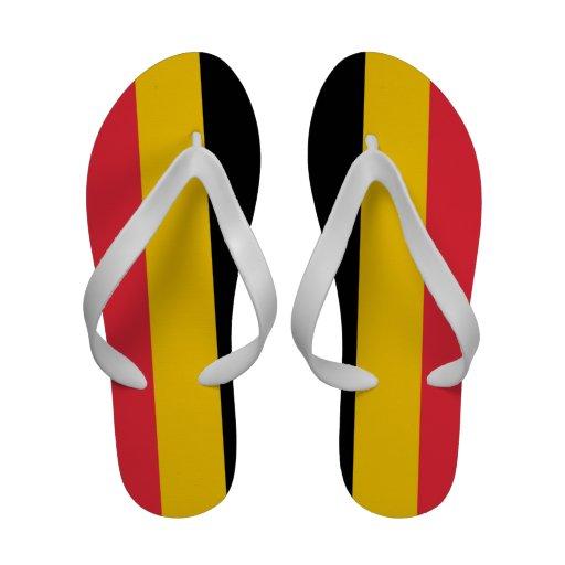 De Wipschakelaars van vrouwen s, met Vlag van Belg Strandslippers