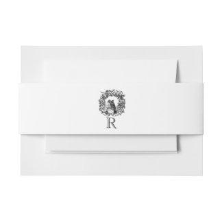 De witte Band van de Buik van de Douane van de Uitnodigingen Wikkel