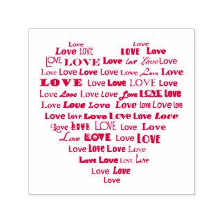 De Wolk van Word van het Hart van de liefde Zelfinktende Stempel