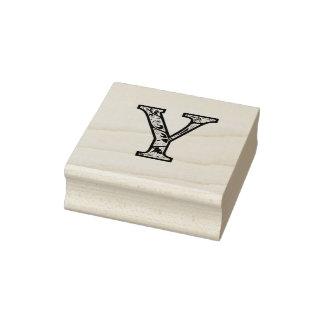 De Y Verlichte Zegel van de Kunst van het Monogram Rubberstempel