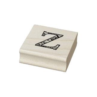 De Z Verlichte Zegel van de Kunst van het Monogram Rubberstempel