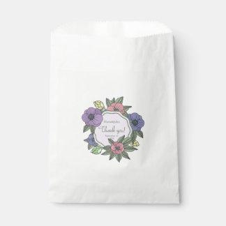 De zak-Bloemen van de Gunst van het huwelijk Witte Zakje 0