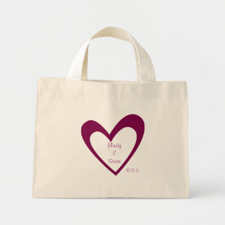 De zak Purple Heart van wittebroodsweken Mini Draagtas