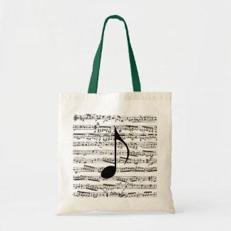 De zak van de Muziek van muzieknoten Draagtas