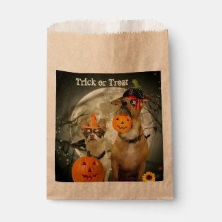 De zakken van de de hondgunst van Halloween Bedankzakje