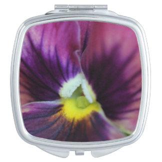 De zakspiegel van het viooltje handtas spiegeltje