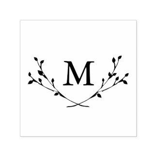 De zalige Zegel van het Monogram van Takken Zelfinktende Stempel