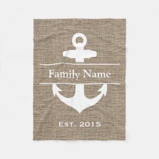 De zeevaart Familienaam van de Jute van het Anker Fleece Deken
