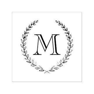 De Zegel van het Monogram van de laurier Zelfinktende Stempel
