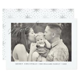 De zilveren Kaarten van de Foto van Kerstmis van