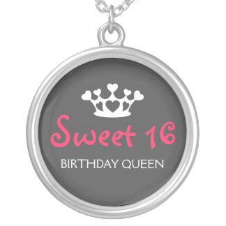 De zoete Koningin van Zestien Verjaardag - het Roz Zilver Vergulden Ketting