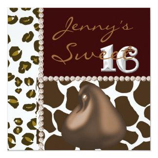 De ZOETE Kus van 16 Chocolade & de Dierlijke Kaart