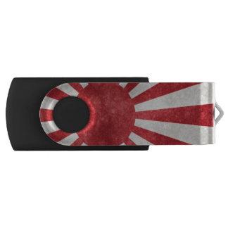 De zon de vlag van Japan metaal ziet eruit Swivel USB 2.0 Stick
