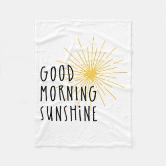 De Zonneschijn van de goedemorgen Fleece Deken