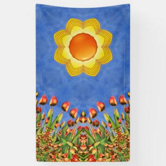 De zonnige Banners    van de Dag, 4 grootte
