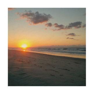 De Zonsopgang van stranden Hout Afdruk