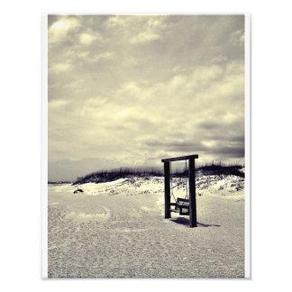 (De zwart-witte) Schommeling van Tybee Foto Afdruk