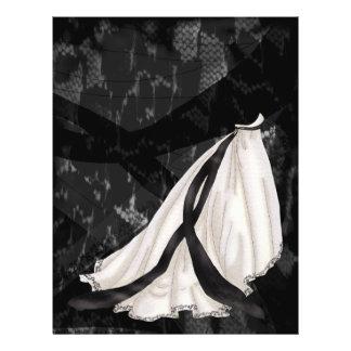 De zwart-witte Toga van het Huwelijk Flyer 21,6 X 27,9 Cm