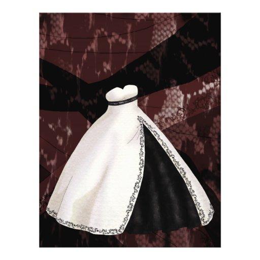 De zwart-witte Toga van het Huwelijk Gepersonaliseerde Folder
