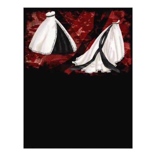 De zwart-witte Toga van het Huwelijk Persoonlijke Folder