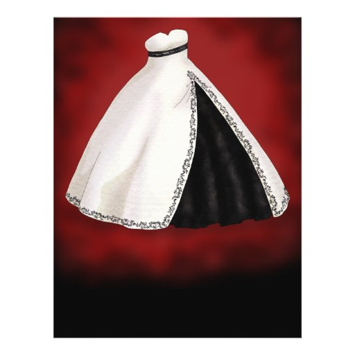 De zwart-witte Toga van het Huwelijk Fullcolor Folder