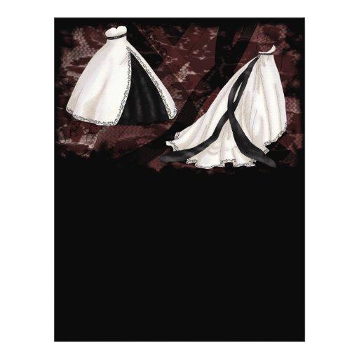 De zwart-witte Toga van het Huwelijk Folders