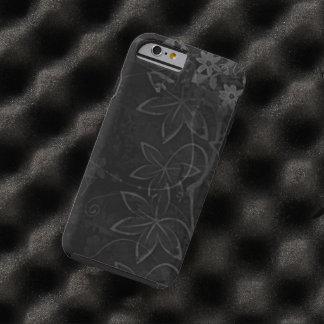 de zwarte bloemen wervelen vectorart. tough iPhone 6 hoesje