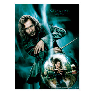 De Zwarte en Bellatrix Lestrange van Sirius Briefkaart