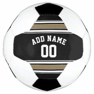 De zwarte en Gouden Naam van Jersey van Sporten -