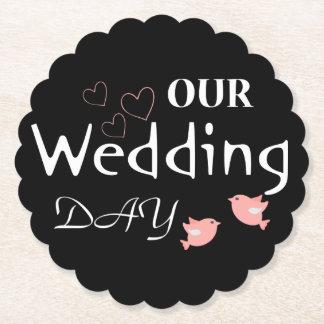 De zwarte & Roze Partij van het Huwelijk van Viltjes