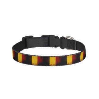 De zwarte Vlag van Grunge België Huisdier Halsbandje