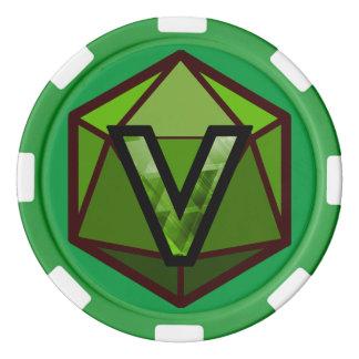 DEADLANDS - Jeton de poker vert d'équipe