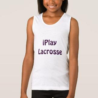 Débardeur Chemise de lacrosse de la jeunesse de filles